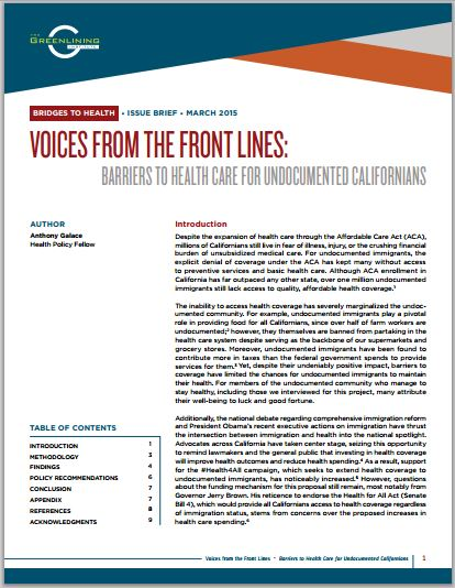 Download Voices from the Front Lines Issue Brief